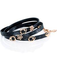 Tamara Comolli - Loopy Beluga Onyx Leather Wrap Bracelet - Lyst