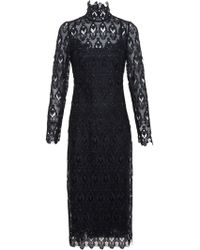 Dolce & Gabbana Crown Collar Lace Dress - Lyst