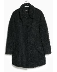 Mango Faux Fur Coat - Lyst