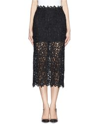 Valentino Guipure Lace Tulle Skirt - Lyst