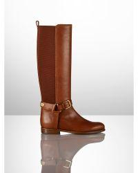 Ralph Lauren Vachetta Sabeen Riding Boot - Lyst