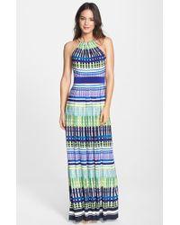 Eliza J Print Jersey Maxi Dress - Lyst