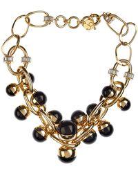 Valentina Brugnatelli Nicole Resin & Swarovski Necklace black - Lyst