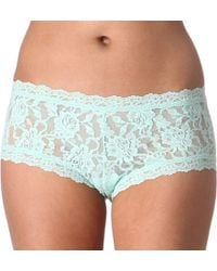 Hanky Panky Signature Lace Boy Shorts - Lyst