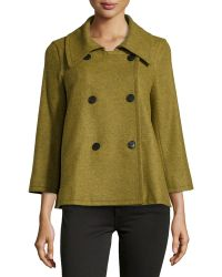 Lafayette 148 New York Double-Breasted Topper - Lyst