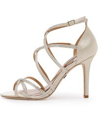 Badgley Mischka Meghan Strappy Sandals - Ivory - Lyst
