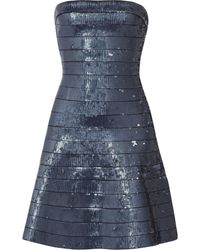Hervé Léger Sequined Bandage Mini Dress - Lyst