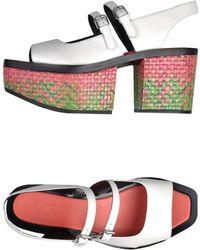 Kenzo White Sandals - Lyst