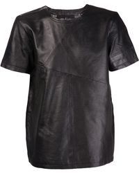 Sons Of Heroes Perforated Striped Tshirt black - Lyst