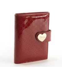 Gucci Red Ssima Patent Leather Heart Planner - Lyst