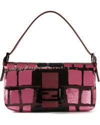 Fendi Baguette Sequin Shoulder Bag - Lyst