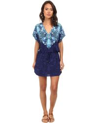 Lauren by Ralph Lauren Engineered Scarf Tunic Cover-Up - Lyst
