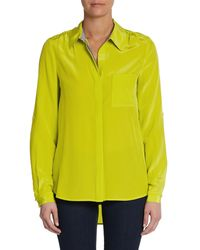 Diane Von Furstenberg Lorelei Two Silkcharmeuse Hilo Shirt - Lyst