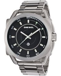 Diesel Mens Black Dial Stainless Steel - Lyst