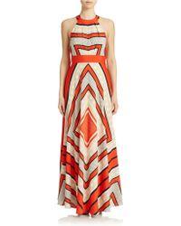 Eliza J Scarf Print Maxi Dress - Lyst