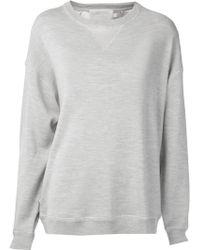 Jason Wu - Satin Back Sweatshirt - Lyst