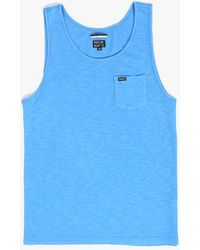 RVCA Ditch Dog Tank Top blue - Lyst