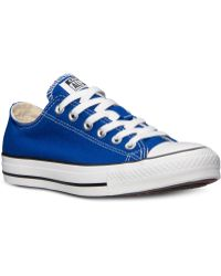 Converse Men'S Chuck Taylor Ox Casual Sneakers From Finish Line - Lyst