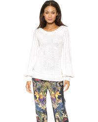 Ella Moss Danya Sweater Natural - Lyst