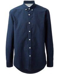 Mr Start Navy Button Down Collar Shirt - Lyst