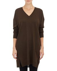 Vince Pleat-Back V-Neck Tunic - Lyst