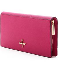 Pour La Victoire | Zip Around Continental Wallet  Fuschia | Lyst