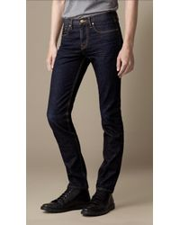 Burberry Shoreditch Handsanded Skinny Fit Jeans - Lyst