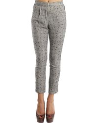 Charlotte Ronson Printed Pants gray - Lyst