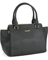 Calvin Klein B Leather Satchel - Lyst