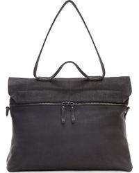 Marsell Black Leather Messenger Bag - Lyst