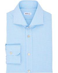Kiton Check Shirt - Lyst