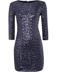 Tfnc Sequin Bodycon 34 Sleeve Dress - Lyst