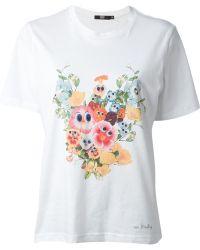 Markus Lupfer Printed Flower Tshirt - Lyst