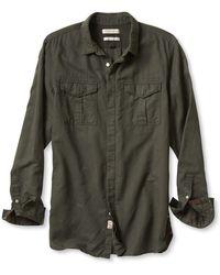 Banana Republic Heritage Linen Utility Shirt green - Lyst