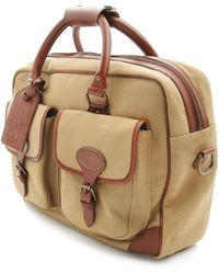 Polo Ralph Lauren Beige Canvas And Leather Day Bag - Lyst