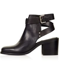 Topshop Always Buckle Ankle Boots - Lyst