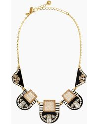 Kate Spade Imperial Tile Necklace - Lyst