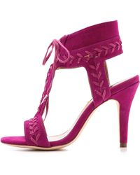 Twelfth Street Cynthia Vincent - Evie Lace Up Sandals - Lyst