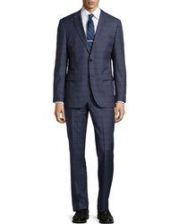 Hugo Boss Grand Central Tonal Plaid Suit - Lyst