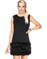 Pixie Market Ruffle My Feathers Dress - Lyst