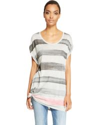 DKNY Jeans Painted Stripe Tee - Lyst