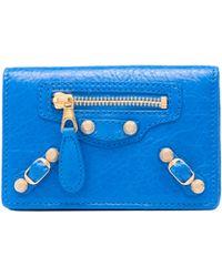 Balenciaga Giant Gold Card Case - Lyst
