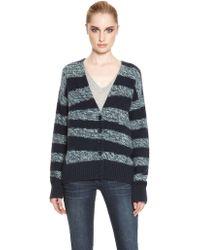 DKNY International Stripe Cardigan - Lyst