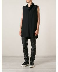 Rick Owens Cowl Neck Tunic Top - Lyst
