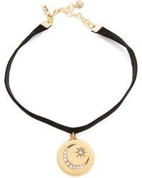 Vanessa Mooney - Lillian Choker Necklace - Black/gold - Lyst