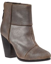 Rag & Bone Classic Newbury Ankle Boot Metal Taupe Leather - Lyst