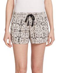 Joie Layana Printed Silk Drawstring Shorts - Lyst
