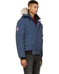 canada goose navy blue jacket