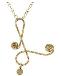 Rafia - Initial C Necklace - Lyst