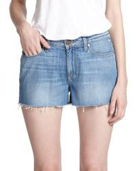 Paige Callie High-Rise Cut-Off Denim Shorts - Lyst